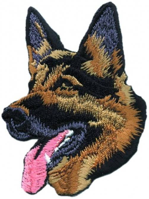 Bilde av Schæferhund hode, strykemerke